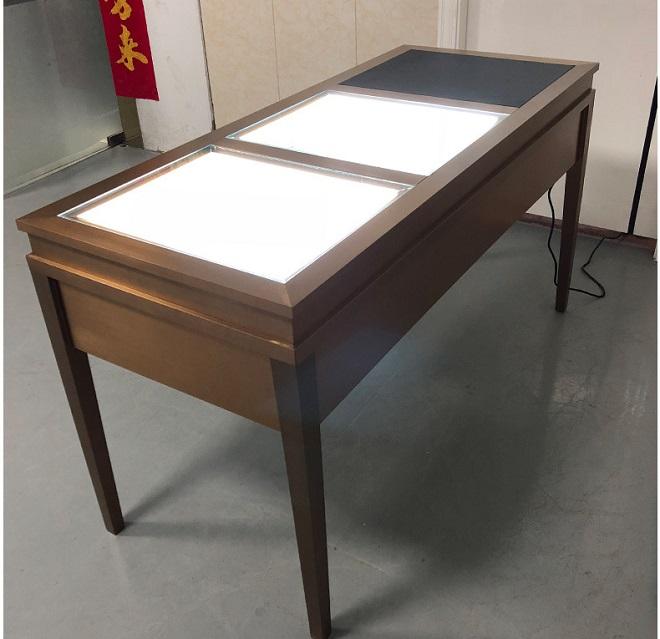 8MM超白玻璃不锈钢欧式珠宝首饰展示柜