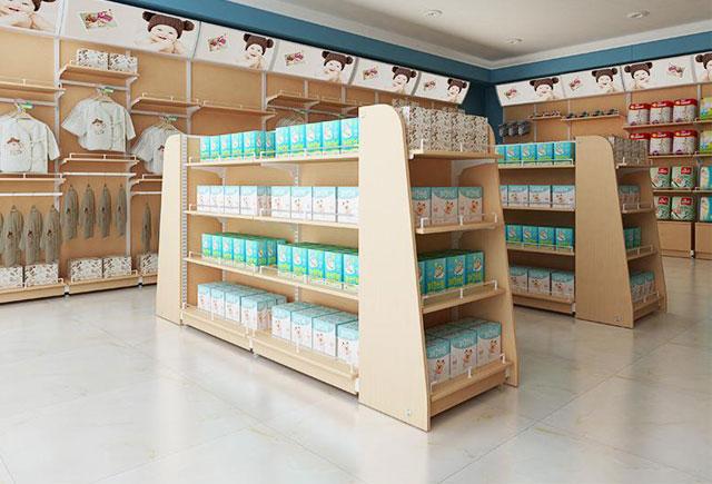 商场儿童用品木质展柜定制