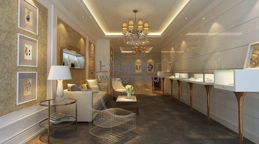 上海珠宝柜台定制:新古典珠宝展柜设计效果图-上海展柜厂